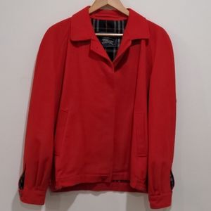 Burberry Women Red Wool & Alpaca Bomber Jacket